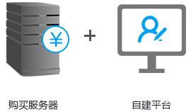 购买服务器+自建平台